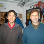 Nikolai mit US-Buchautor Steven Hill