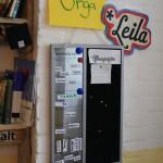 Das ist unser Wochenplan, wo das Leila-Team die Öffnungszeiten einhält.